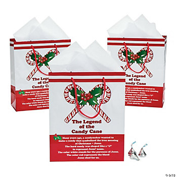 The legend of the candy cane gift bags oriental trading