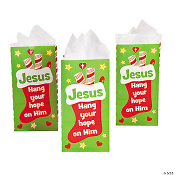 """Hang Your Hope On Him"" Treat Bags"