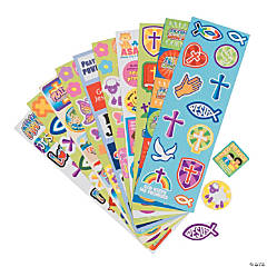 Bulk Religious Sticker Sheet Assortment