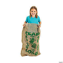 "Burlap ""Leap For the Lord!"" Potato Sack"