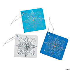 Inspirational Snowflake Favor Tags