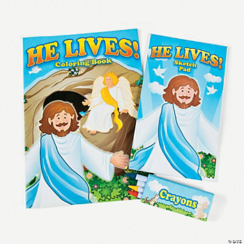 """He Lives!"" Coloring Sets"