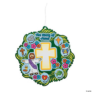 Wreath of Jesus' Life Make-A-Sticker Scenes
