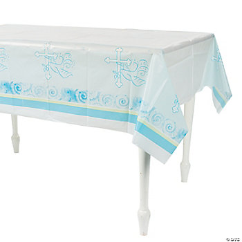 Blue Faithful Dove Table Cover