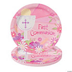 "Pink ""First Communion"" Dinner Plates"