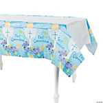 "Blue ""First Communion"" Table Cover"
