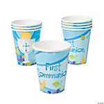 "Blue ""First Communion"" Cups"