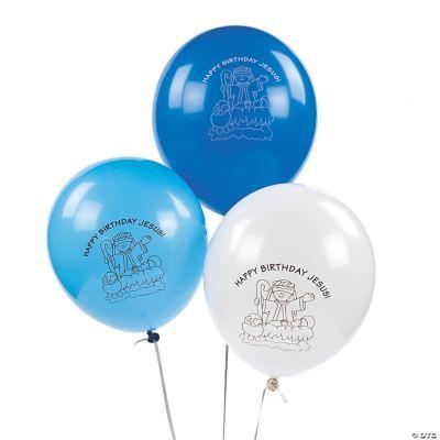 Happy Birthday Jesus Latex Balloons