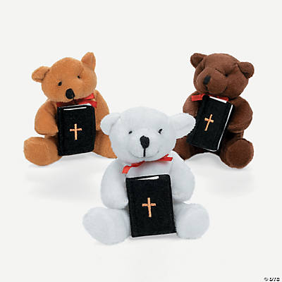 Plush Religious Bears with Bible Pocket