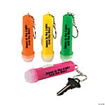 "Mini ""Jesus Is the Light"" Flashlight Key Chains"
