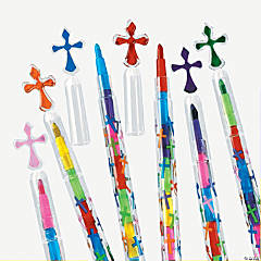 Religious Stacking Point Crayons