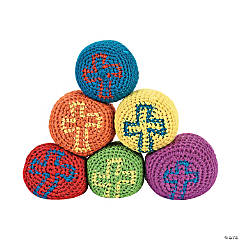 Knitted Fabric Religious Cross Kick Balls