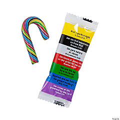 "Mini ""Colors Of Faith"" Candy Canes"