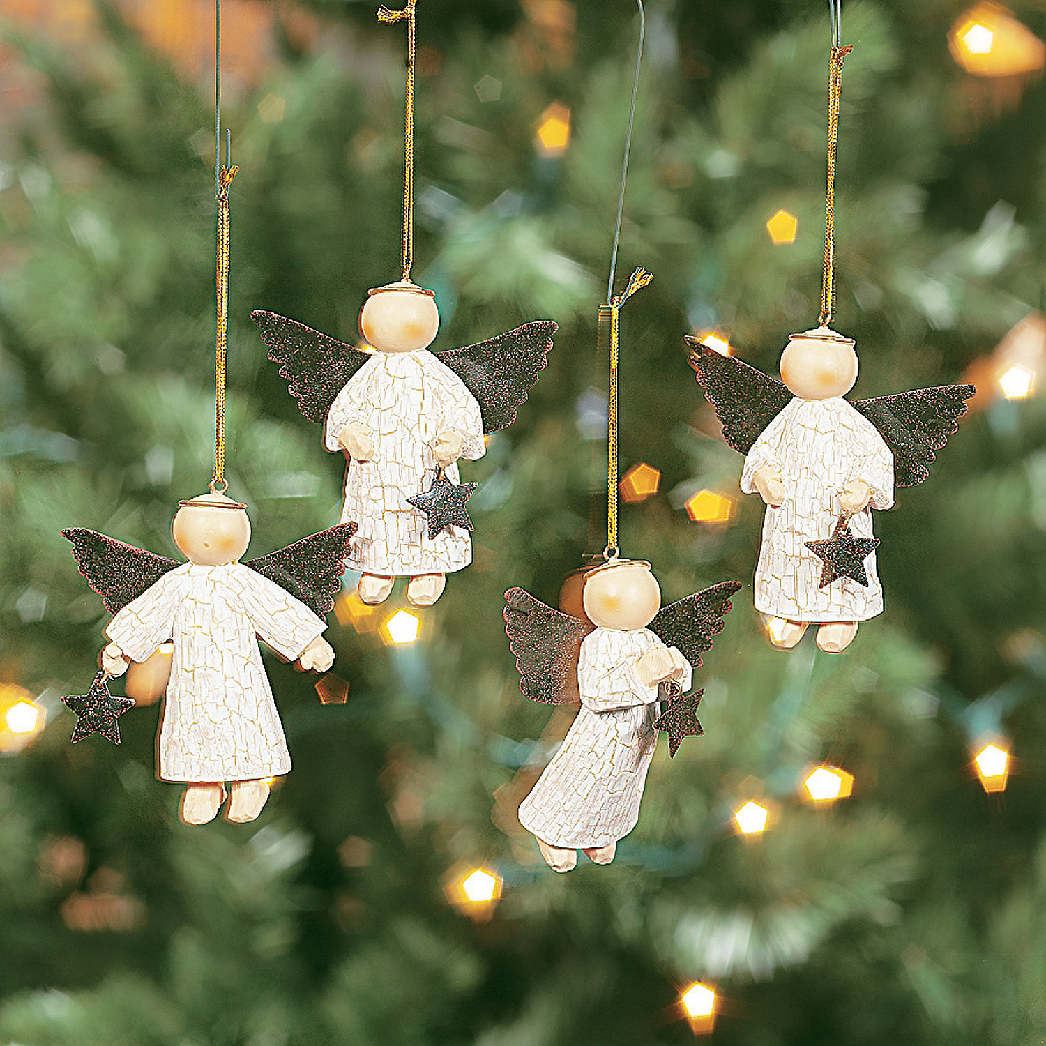 Cool Christmas Tree Decorations: Star-Gathering Angel Ornaments