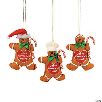 """Jesus Warms My Heart"" Candy Cane Holder Ornaments"