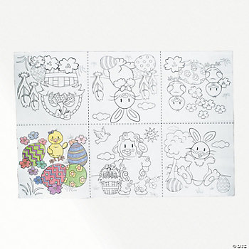 Giant Easter Coloring Mat