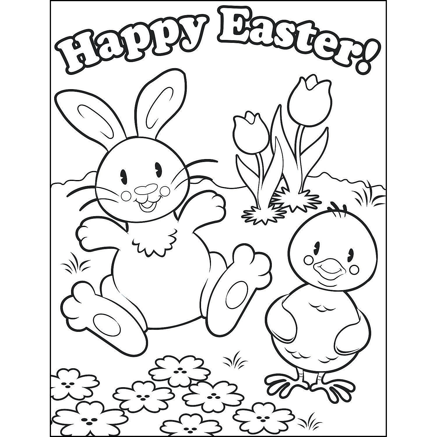 Easter Coloring Contest Sheets Oriental Trading