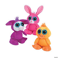 Plush Large-Eyed Easter Animals