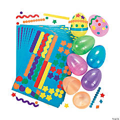 Easter Egg Decorating Sticker Stencils