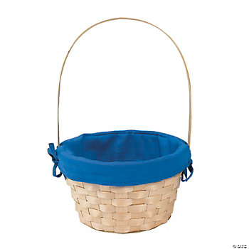 Personalized Basket With Blue Liner