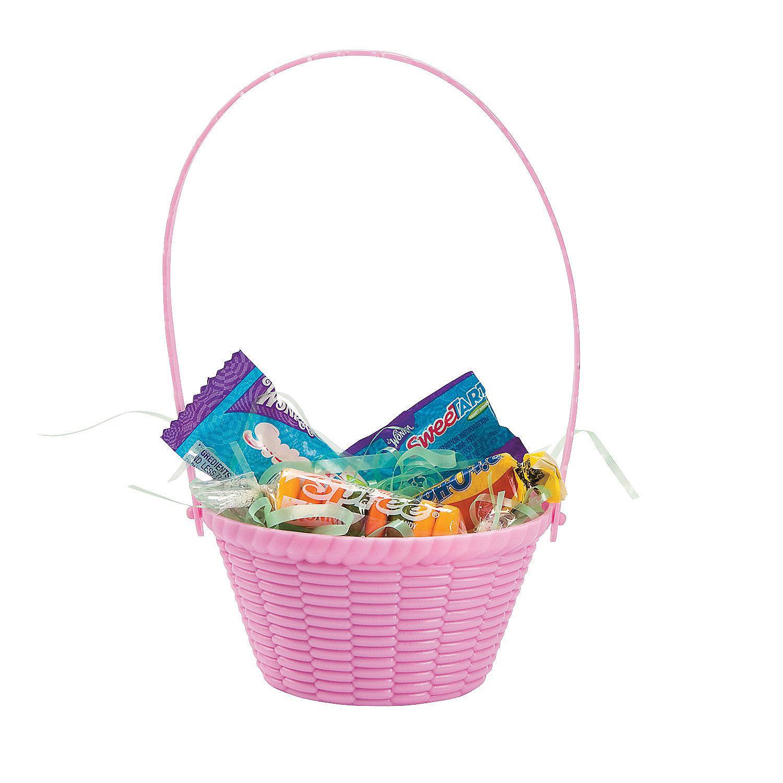 mini pastel easter baskets oriental trading. Black Bedroom Furniture Sets. Home Design Ideas