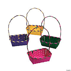 Rainbow Rectangular Easter Baskets