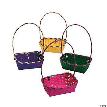 Rainbow Rectangular Baskets
