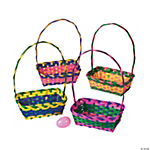 Bamboo Multicolor Rectangular Easter Baskets