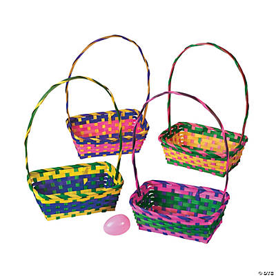 Multicolor Rectangular Easter Baskets