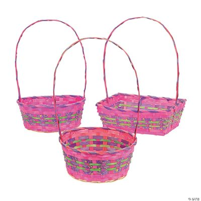 Large & Small Pink Basket Assortment