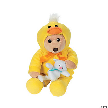Plush Bear In Duck Costume