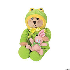 Plush Bear In Frog Costume