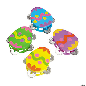 Easter Egg-Shaped Tambourines