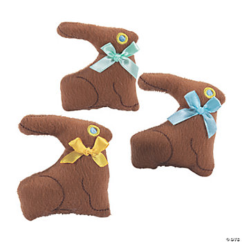 Plush Chocolate Bunnies