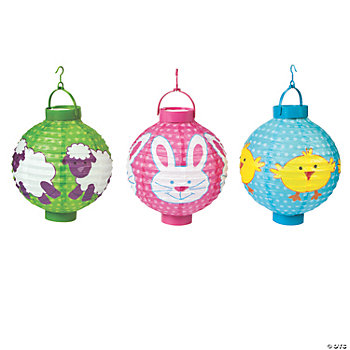 Light-Up Easter Lantern Set