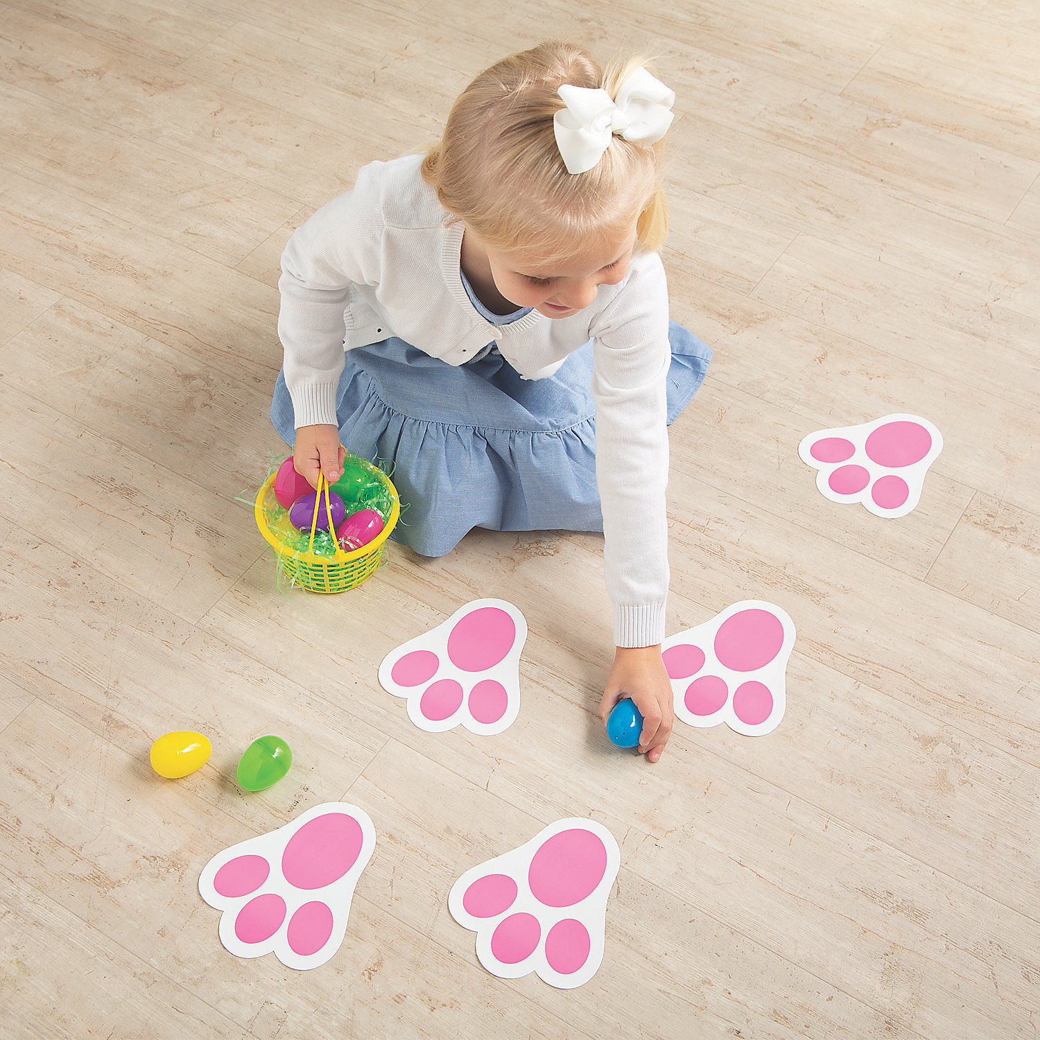 footprint cut out template - bunny print floor clings oriental trading