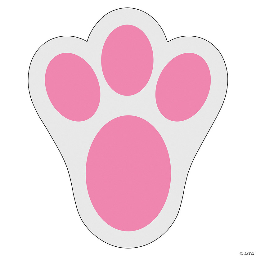 how to draw a rabbit paw print