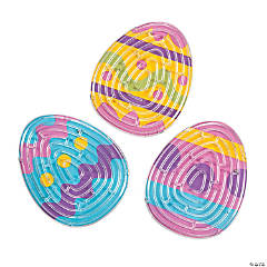 Dyed Easter Egg Maze Puzzles