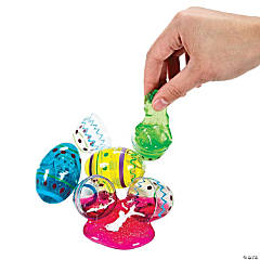 Egg-Shaped Glitter Putty