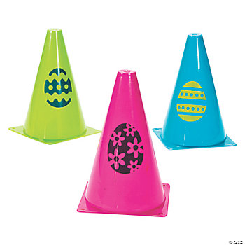 Easter Egg Traffic Cones
