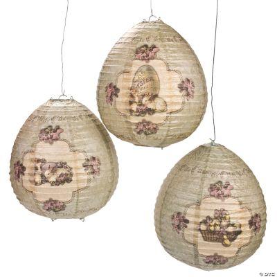 Vintage Easter Lantern Set