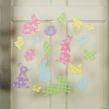 Easter Silhouette Window Clings