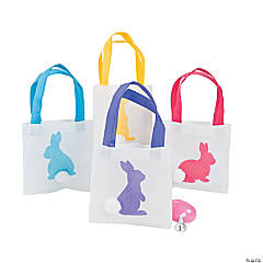 Easter Bunny Silhouette Tote Bags