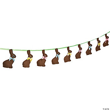Plush Chocolate Bunny Garland