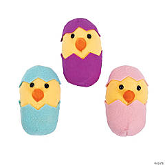 Plush Easter Chicks In Eggs