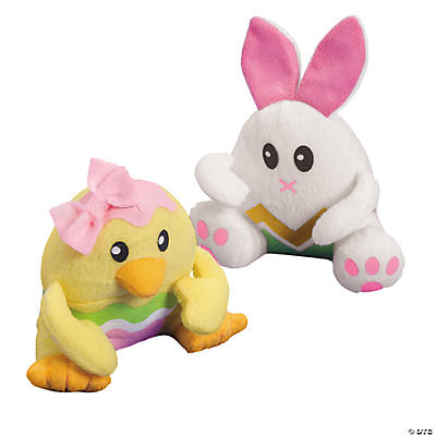 Plush Bunny & Chick Easter Eggs