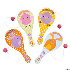 Wooden Easter Paddleball Games