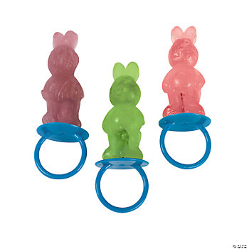 Bunny-Shaped Sucker Rings