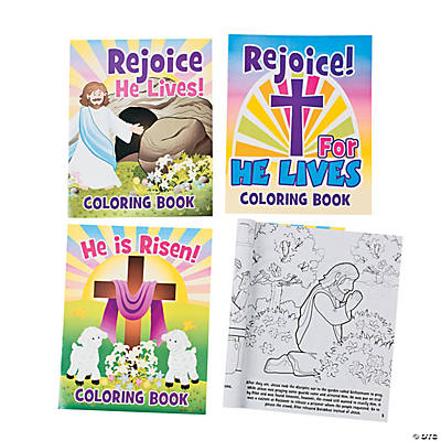 """He Lives!"" Easter Story Coloring Books"