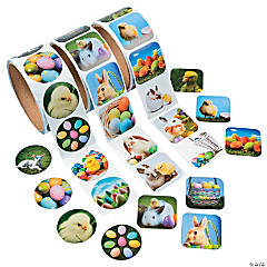 Rolls of Easter Stickers Assortment